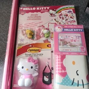Hello Kitty. Wall decals poster hook..new